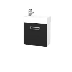Dřevojas - Koupelnová skříň DOOR SZD 44 - N01 Bílá lesk / L03 Antracit vysoký lesk / Pravé (122768P)