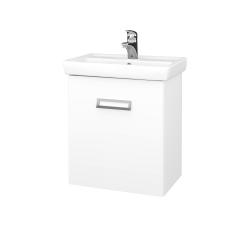 Dřevojas - Koupelnová skříň DOOR SZD 55 - N01 Bílá lesk / L01 Bílá vysoký lesk / Pravé (21941P)