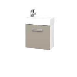 Dřevojas - Koupelnová skříň DOOR SZD 44 - N01 Bílá lesk / M05 Béžová mat / Pravé (205034P)
