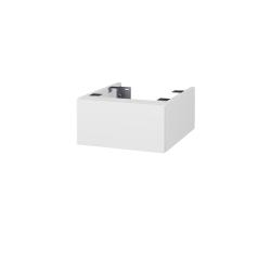 Dřevojas - Doplňková skříňka pod desku DSD SZZ 40, s výřezem (výška 20 cm) - N01 Bílá lesk / N06 Lava (223007)