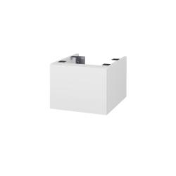 Dřevojas - Doplňková skříňka pod desku DSD SZZ1 40, s výřezem (výška 30 cm) - N01 Bílá lesk / D16 Beton tmavý (223724)