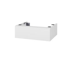 Dřevojas - Doplňková skříňka pod desku DSD SZZ 60, s výřezem (výška 20 cm) - D14 Basalt / D14 Basalt (225117)