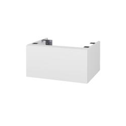 Dřevojas - Doplňková skříňka pod desku DSD SZZ1 60, s výřezem (výška 30 cm) - N01 Bílá lesk / D06 Ořech (226008)