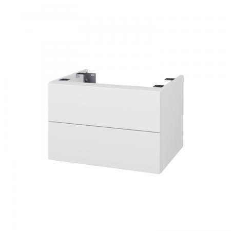 Dřevojas - Doplňková skříňka pod desku DSD SZZ2 60, s výřezem (výška 40 cm) - N01 Bílá lesk / D02 Bříza (226749)