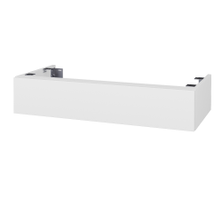 Dřevojas - Doplňková skříňka pod desku DSD SZZ 100, s výřezem (výška 20 cm) - N01 Bílá lesk / D08 Wenge (230043)