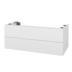 Dřevojas - Doplňková skříňka pod desku DSD SZZ2 100, bez výřezu (výška 40 cm) - N01 Bílá lesk / D15 Nebraska (231125)