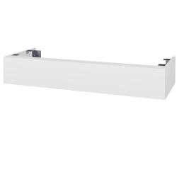Dřevojas - Doplňková skříňka pod desku DSD SZZ 120, s výřezem (výška 20 cm) - N01 Bílá lesk / D04 Dub (232221)