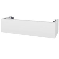 Dřevojas - Doplňková skříňka pod desku DSD SZZ1 120, bez výřezu (výška 30 cm) - N01 Bílá lesk / L01 Bílá vysoký lesk (232726)