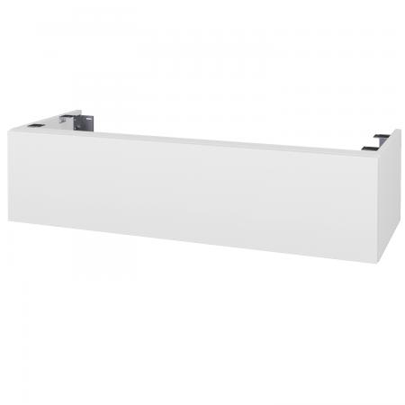 Dřevojas - Doplňková skříňka pod desku DSD SZZ1 120, bez výřezu (výška 30 cm) - N01 Bílá lesk / D06 Ořech (232634)