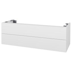 Dřevojas - Doplňková skříňka pod desku DSD SZZ2 120, bez výřezu (výška 40 cm) - N01 Bílá lesk / D10 Borovice Jackson (233440)