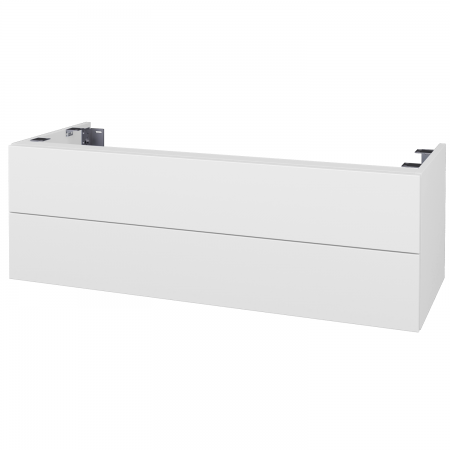 Dřevojas - Doplňková skříňka pod desku DSD SZZ2 120, s výřezem (výška 40 cm) - N01 Bílá lesk / D17 Colorado (233877)