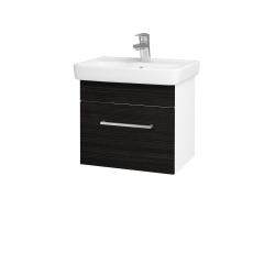 Dřevojas - Koupelnová skříň SOLO SZZ 50 - N01 Bílá lesk / Úchytka T04 / D14 Basalt (149994E)