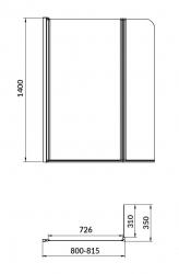 PARAVAN K VANĚ EASY NEW DVOUDÍLNÝ 140X115cm (S301-290), fotografie 10/11