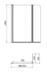 CERSANIT - PARAVAN K VANĚ EASY NEW DVOUDÍLNÝ 140X115cm (S301-290), fotografie 10/11
