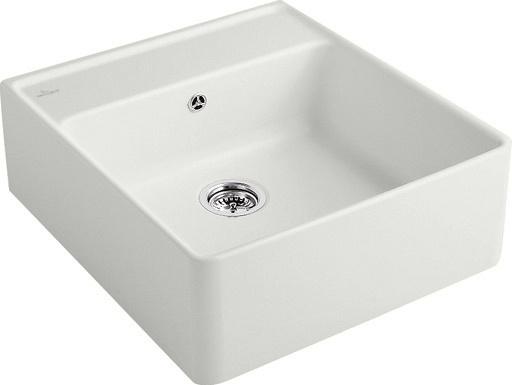 VILLEROY & BOCH Keramický dřez Single-bowl sink Stone white modulový 595 x 630 x 220 bez excentru 632061RW