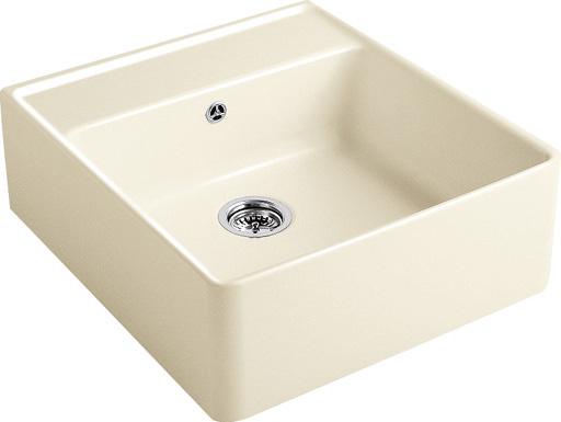 VILLEROY & BOCH Keramický dřez Single-bowl sink Cream modulový 595 x 630 x 220 bez excentru 632061KR