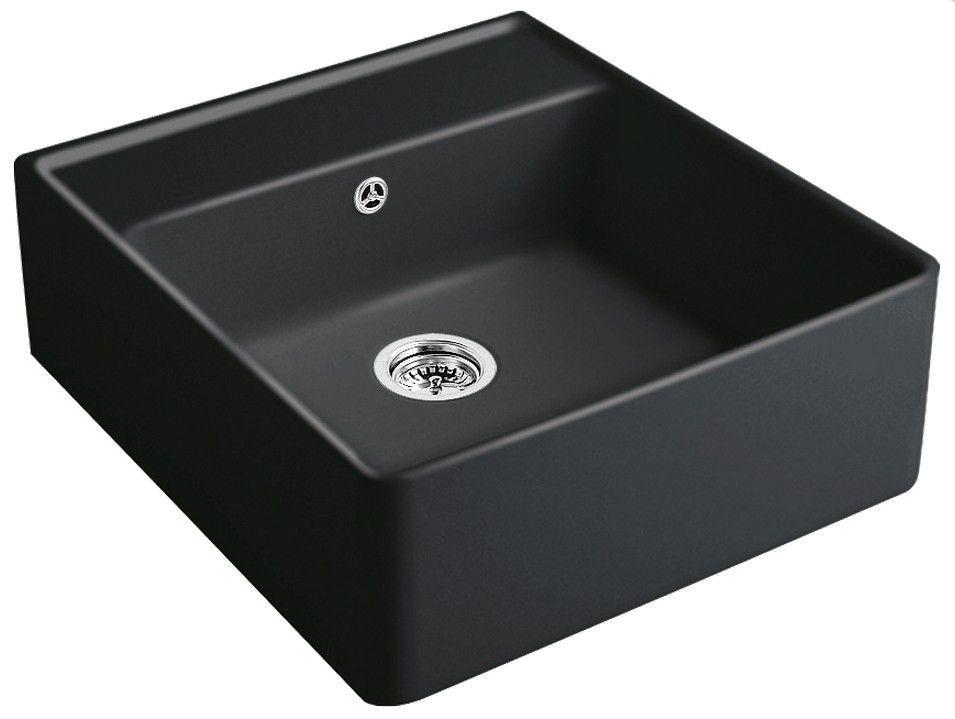 VILLEROY & BOCH Keramický dřez Single-bowl sink Ebony modulový 595 x 630 x 220 bez excentru 632061S5