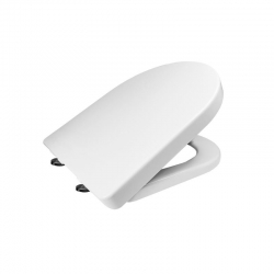 MEREO - Samozavírací WC sedátko, hranaté, duroplast, bílé, s odnímatelnými panty CLICK (CSS115)