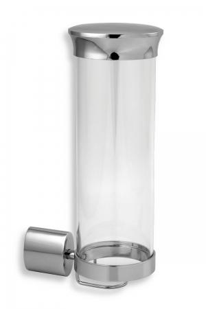 NOVASERVIS - Zásobník na kosmetické tampony sklo Metalia 10 chrom (0072,0)