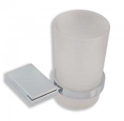 NOVASERVIS - Držák kartáčků a pasty sklo Metalia 9 chrom (0906,0)