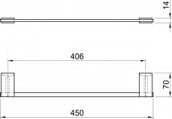 NOVASERVIS - Držák ručníků 510 mm Metalia 9 chrom (0927,0), fotografie 4/2