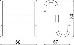 NOVASERVIS - Dvojháček na otopný žebřík Metalia Drátěný program chrom (6001,0), fotografie 4/2