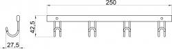 NOVASERVIS - Čtyřháček Metalia Drátěný program chrom (6043,0), fotografie 4/2