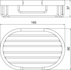 NOVASERVIS - Mýdlenka Metalia Drátěný program chrom (6048,0), fotografie 6/3
