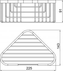 NOVASERVIS - Rohová polička malá hluboká Metalia Drátěný program chrom (6064,0), fotografie 4/2