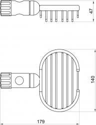 NOVASERVIS - Mýdlenka na posuvnou tyč Drátěný program chrom (6080,0), fotografie 4/2