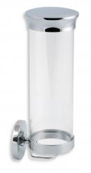 NOVASERVIS - Zásobník na kosmetické tampony sklo Metalia 1 chrom (6172,0)