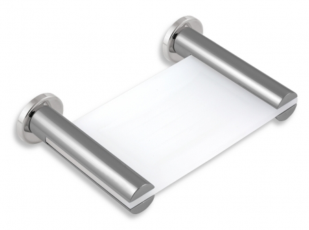 NOVASERVIS - Mýdlenka sklo Metalia 2 chrom (6236,0)