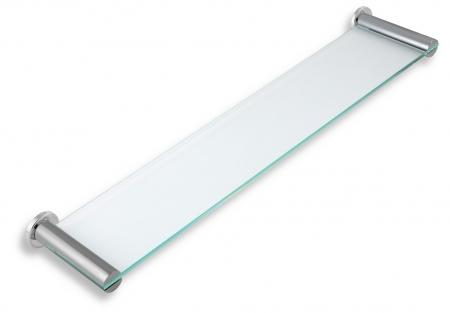 NOVASERVIS - Polička rovná sklo pískované Metalia 2 chrom (6240,0S)