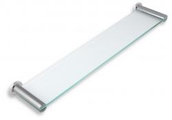 NOVASERVIS - Polička rovná sklo pískované Metalia 2 chrom (6240,0S), fotografie 2/1
