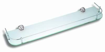 NOVASERVIS - Polička zaoblená se zábradlím Metalia 3 chrom (6353,0)