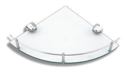NOVASERVIS - Rohová polička se zábradlím Metalia 3 chrom (6358,0)