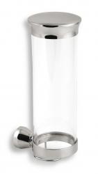 NOVASERVIS - Zásobník na kosmetické tampony sklo Metalia 3 chrom (6372,0)