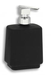 NOVASERVIS - Dávkovač mýdla na postavení Metalia 4 černá-chrom (6450/1,5), fotografie 2/1