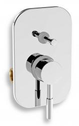 NOVASERVIS - Vanová sprchová baterie s přepínačem Tower Tech chrom (12050R,0)