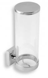 NOVASERVIS - Zásobník na kosmetické tampony sklo Metalia 12 chrom (0272,0), fotografie 2/2