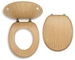 NOVASERVIS - Sedátko dýhované dřevo (WC/BAMBUS), fotografie 2/1
