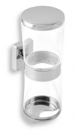 NOVASERVIS - Zásobník kosmetických tamponů a tyčinek Metalia 12 chrom (0282,0)