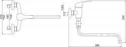 NOVASERVIS - Paneláková baterie bez sprchy 150 mm Titania Iris chrom (92071/1,0), fotografie 4/2