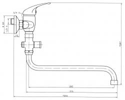 NOVASERVIS - Paneláková baterie bez sprchy 100 mm Titania Iris chrom (92075/1,0), fotografie 4/2
