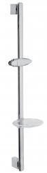 NOVASERVIS - Posuvný držák sprchy s mýdlenkou chrom (RAIL511,0)