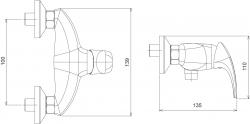 NOVASERVIS - Sprchová baterie 100 mm Metalia 57 chrom (57065,0), fotografie 4/2