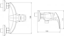 NOVASERVIS - Sprchová baterie 150 mm Metalia 57 chrom (57060,0), fotografie 4/2