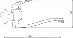 NOVASERVIS - Dřezová umyvadlová baterie 150 mm Metalia 57 chrom (57070,0), fotografie 4/2