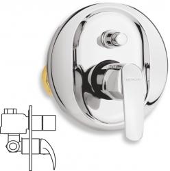NOVASERVIS - Vanová sprchová baterie s přepínačem Metalia 56 chrom (50050R,0)