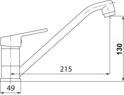 NOVASERVIS - Dřezová baterie SMILE chrom (71091,0), fotografie 4/2